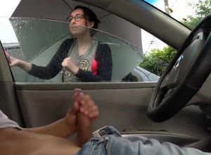 Woman witnesses me wank off in my car..