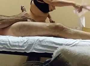 Man meat rubdown spy camera