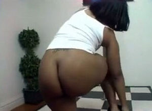 Phat stripper wiggle hefty dark-hued..