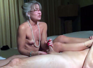 Teensy titties  grandmother milking cock