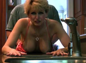 Crazy mature milf tearing up at home