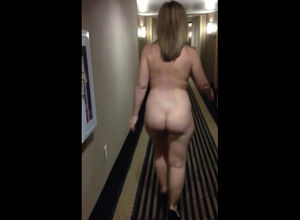 Totally naked female ambling colon of..