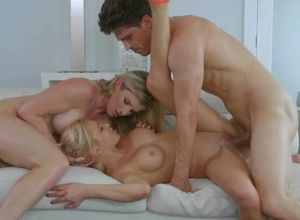Lustful girl, mother and her Beau are..