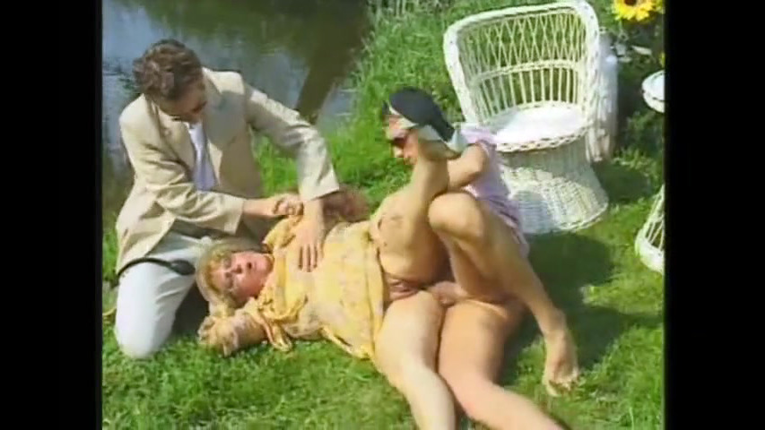 Grandma slut romped near the pond in..
